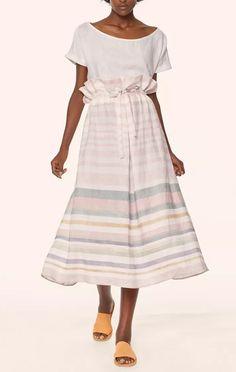 """Mara Hoffman """"Paper Bag"""" Midi Skirt"""