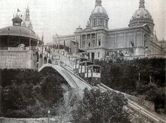Fotografia antigua de Montjuïc Barcelona 1929. en blanco y negro totart.cat #enmarcar #fotografia