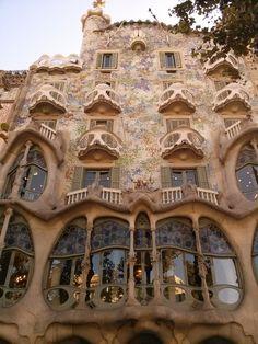 "Gaudi, Barcelona ""House of Bones""~ Art Nouveau Oh The Places You'll Go, Places Ive Been, Art Nouveau, Art Deco, Creepy Houses, Barcelona Travel, Gaudi Barcelona, Barcelona City, Barcelona Catalonia"