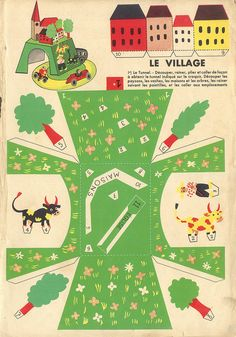 Vintage crafts--print and make paper toys group via Flickr--lots of great toys to print and make! #paper #vintage #toys