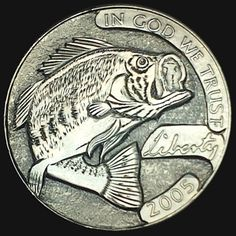 DIMAS SÁNCHEZ MORADIELLOS HOBO NICKEL - BLACK BASS - 2005 JEFFERSON NICKEL