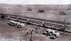 Red Cross train in Egypt with casualties from Gallipoli 1915