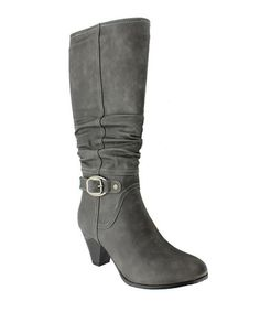 Ummm, yes! || Take a look at this Gray Rosina-3 Boot by Pierre Dumas on #zulily today!