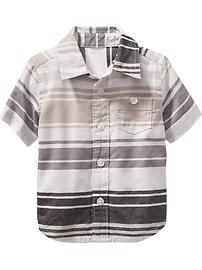 Striped Short-Sleeve Oxford Shirts for Baby