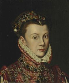 Elizabeth of Valois - eldest daughter of Henry II of France & Catherine de' Medici. Her father insisted she share her bedroom w/ her future sister-in-law, Mary, Queen of Scots. She had to give precedence to Mary –a crowned queen. The 2 would remain close friends the rest of their lives. Though her sister Margaret & Mary of Scots were prettier, she was still considered attractive. She married to Philip II of Spain. Philip was enchanted by his 14 yr old bride & gave up his mistress.