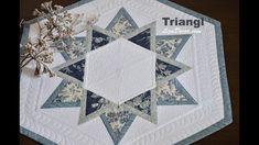 Patchwork tutorial Triangl - Patchworkové vzory podle pravítka Triangl LizaDecor.com #patchwork #lizadecor #triangl #video #šablona #pattern #vzory