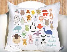 For little ones - Alphabet Animal Kingdom Pillowcase