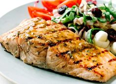 Salmon on the grill + a delicious marinade = one quick and easy weeknight dinner.