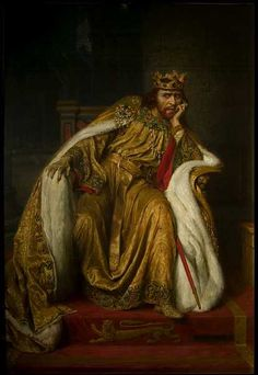BBC - Your Paintings - Herbert Beerbohm Tree as King John in 'King John' by William Shakespeare Uk History, European History, British History, Classic Paintings, Old Paintings, Valhalla, Eleanor Of Aquitaine, King Painting, Magna Carta