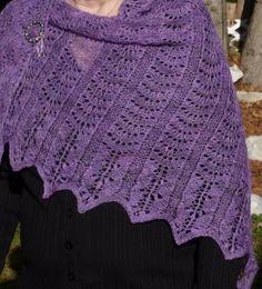 Mom's lavender fields shawl
