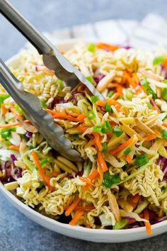 oriental salad with ramen noodles - oriental salad with ramen noodles . oriental salad with ramen noodles easy . oriental salad with ramen noodles recipe Raman Salad, Raman Noodle Salad, Asian Ramen Noodle Salad, Ramen Noodle Recipes, Asian Slaw With Ramen Noodles, Ramen Food, Food Food, Asian Chicken Salads, Chicken Salad Recipes