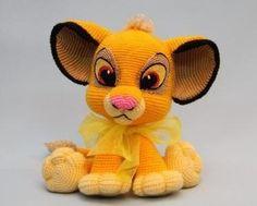Patrón gratis en amigurumi de este precioso león Simba, de la película de El rey león.