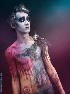 Male Body Painting Art