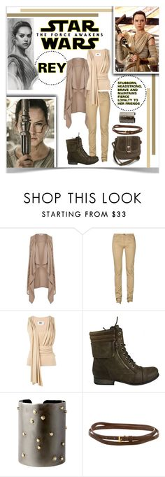 """Star Wars: The Force Awakens Rey"" by lalalaballa22 ❤ liked on Polyvore featuring Topshop, Monkee Genes, MM6 Maison Margiela, Celebrity NYC, Sí.Sí Design, Prada, New Look, starwars, contestentry and theforceawakens"
