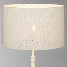BuyJohn Lewis Alice Pierced Linen Shade, Dia.35cm Online at johnlewis.com