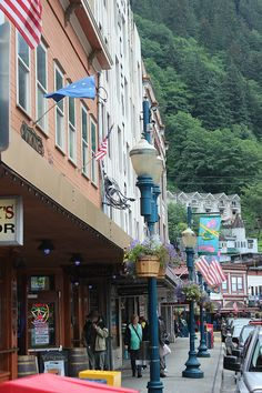 Downtown Juneau Juneau, in the rain via The World on my Necklace