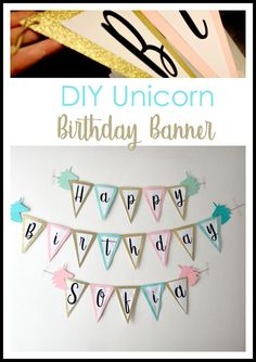 DIY Unicorn birthday