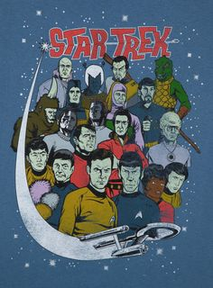 Characters Star Trek Shirt: 80s Movies Star Trek T-shirt #tos