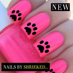 Dog Paws Decal Manicure Water Transfer Celebrity Style Nails Not Caviar