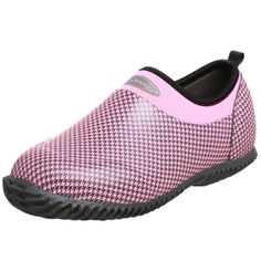 The Original MuckBoots Daily Garden ShoeDusty Pink Houndstooth4 M US Womens -- More info could be found at the image url.