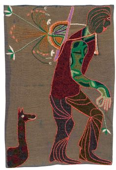 'El hombre' 1962. 127 x 85 cm. Violeta Parra Textile Texture, Textile Fiber Art, Textile Artists, Cute Pupies, Arte Popular, Embroidery Art, Fabric Art, All Art, Art Museum