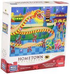 Dragon Dance Puzzle 1000-Piece Hometown Collection by Mega Brand Puzzles