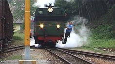 LUNZ, AUSTRIA - JUNE 26: Steam locomotive steaming away on June 26, 2006 in Lunz, Austria.