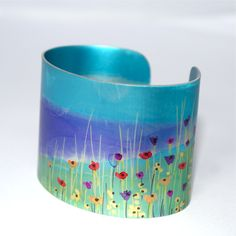 Summer Landscape cuff by Claire Gent