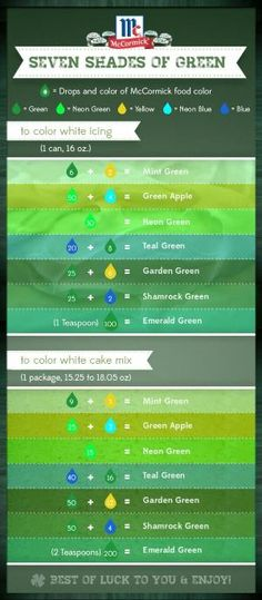 Mccormick Food Coloring Chart | baking tools | Pinterest | Food ...