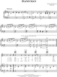 MN0043572 - Piano Man(by Billy Joel)Piano/Vocal/Gui..     This website contains lots of free sheet music.