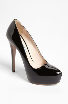 Prada Platform Pump | Nordstrom  Why elegant shoes so EXPENSIVE? The perfect medium between no platform and too much platform (stripper)