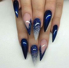 Image result for royal blue nails