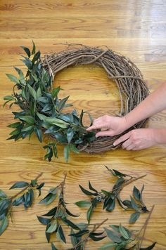 Creating your own home decor can be a fun way to add your personal style into your home. See the tutorial for a farmhouse wreath.