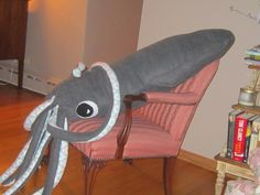 My giant stuffed squid!