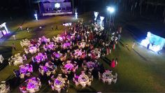Aerial view of a Heavens theme Décor. 25th Anniversary Function at Goa Kenilworth Resorts.
