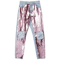 Designer Clothes, Shoes & Bags for Women Torn Jeans, Patched Jeans, Distressed Denim Jeans, Ripped Skinny Jeans, Skinny Fit, Jeans Pants, Sequin Jeans, Embellished Jeans, Pink Skinny Jeans
