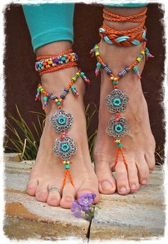 GYPSY summer BAREFOOT SANDALS soleless sandals beach by GPyoga