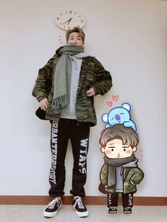 BTS RM Awww soo cuteee Kim Namjoon, Jung Hoseok, King Of Rap, V Bts Cute, V Bts Wallpaper, Bts Rap Monster, Bts Drawings, Kawaii Drawings, Bts Chibi