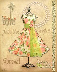 Vintage Party Dress-a