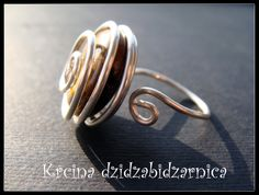 silver plated wire wrap ring