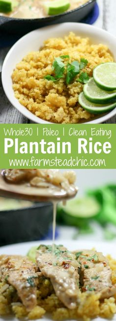 This Paleo and Whole30 Plantain Rice's texture is on point with a very subtle tropical flavor which offsets spicy foods perfectly. Gluten free, grain free.