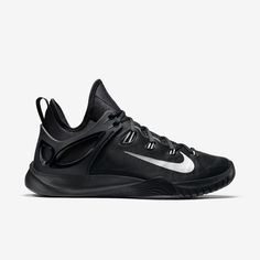 all black mens basketball shoes nike monarch