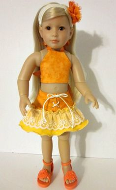 Grace Kidz n Cats doll - outfit and pattern by Carolyn at Kooky Kardinal