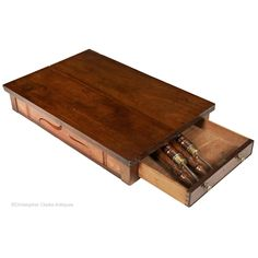 A mahogany Georgian Campaign Table with hinged leaves. The table has a single, full length drawer and a pair of lopers to each side to support the leaves when the table is extended to double its width. When folded the leaves rest on the table top. Stow On The Wold, Campaign Furniture, England Fashion, Georgian, Antiques, Table, Decor, Antiquities