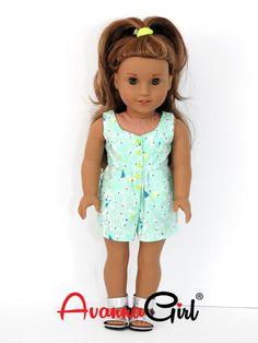 AG Doll Clothes Trendy Handmade Surfrider Romper by AvannaGirl