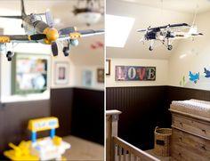 vintage airplane decor | Airplane Nursery, airplanes, nurseries, boys rooms