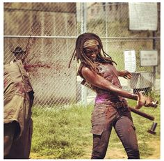 Day 18: Theres no way I could leave her out, she's as tough as Daryl and Merle and deserves this spot just as much. Plus I LOVE the girl power. Andrea belongs here as well.
