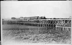 Port Fairy Express crossing McKinnon's Bridge over Mt Emu Creek between Boorcan and Terang. Image Cover, Melbourne Victoria, Historical Pictures, Old Photos, Image Search, Cool Pictures, Bridge, Fairy, Museum