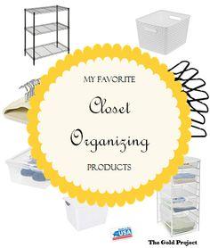 My Favorite Closet Organizing Products
