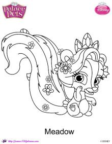 Meadow coloring page | Disney's Princess Palace Pets Free Coloring Pages and Printables | SKGaleana